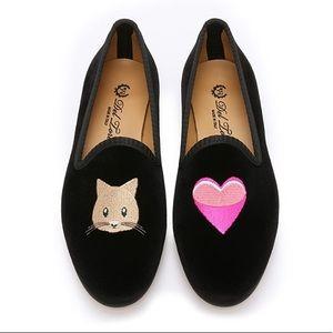 Del Toro $325 Kitty Love Smoking Slippers sz 6